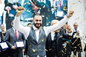 Il campione italiano Francesco Masciullo