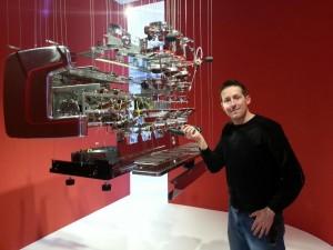 Il nostro Simone con la bellissima M100, esplosa, al MUMAC