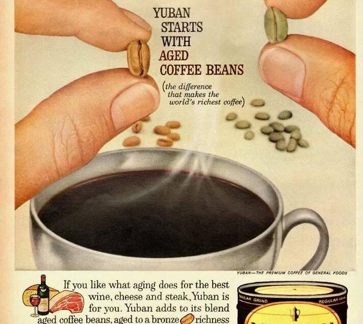 LA PUBBLICITA' DEL CAFFE'….STAGIONATO