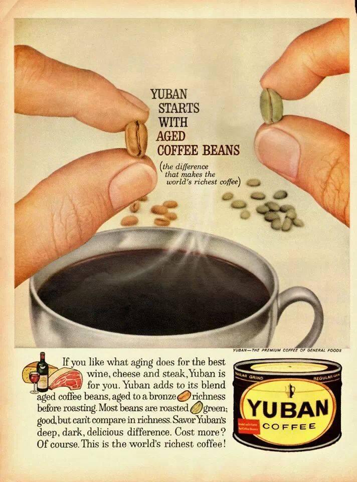 La pubblicità del caffè...stagionato!!