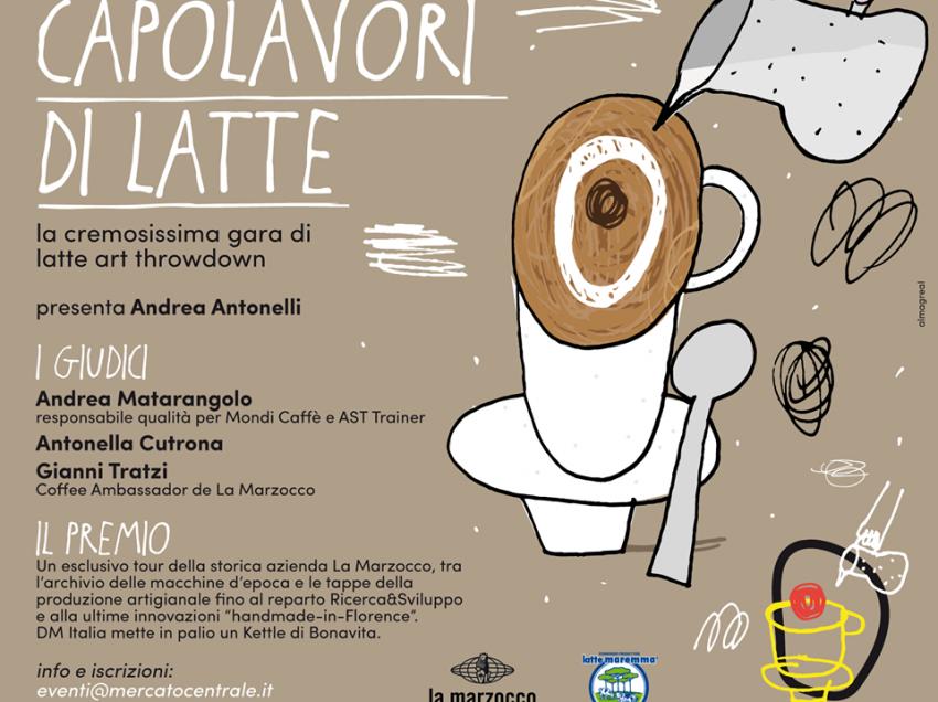 LATTE ART THROWDOWN – LA SFIDA DEGLI ARTISTI DELLA LATTIERA! FIRENZE 9 FEBBRAIO – MERCATO CENTRALE