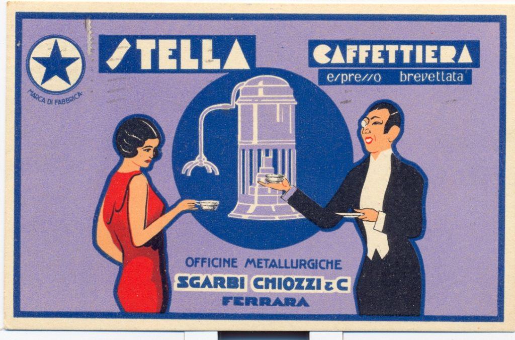 Pubblicità caffettiera Stella 1933