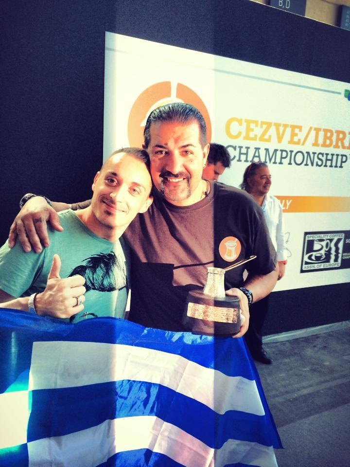 Davide con campione del mondo Stavros Lamprinidis