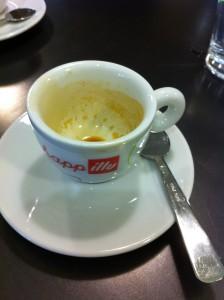 Il caffè (qui ex espresso) che abbiamo bevuto a Roma.
