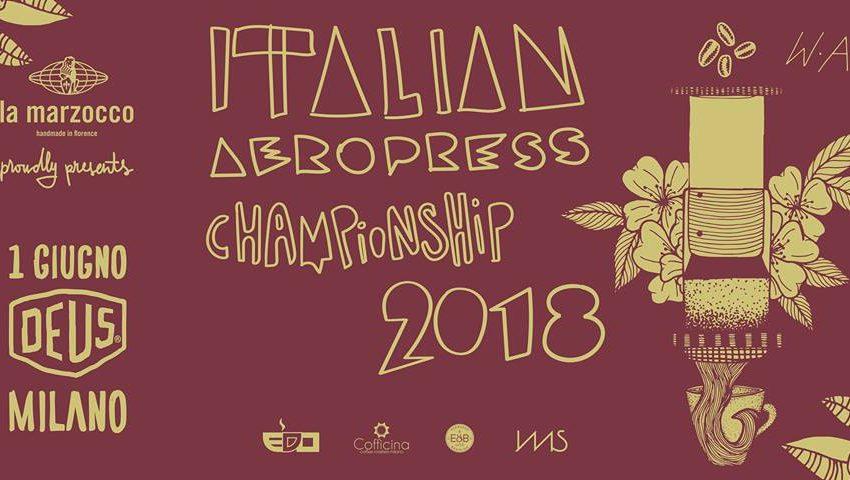 CAMPIONATO ITALIANO AEROPRESS, IL 1° GIUGNO A MILANO