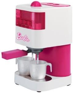 """...a riproduzioni di macchine """"home barista"""" qui nella versione rosa Barbie per piccole Bariste..."""
