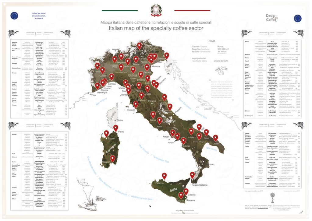 Italian Map of Specialty Coffee