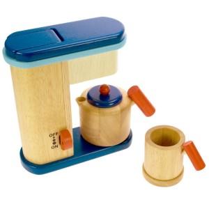 ...una caffettiera in legno....