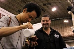 in compagnia del campione di Latte Art Giapponese<br /> Junichi Yamaguchi