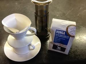 Il caffè e i metodi di estrazione usati da Andrew.