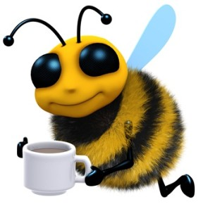 Bee-coffee-adicted