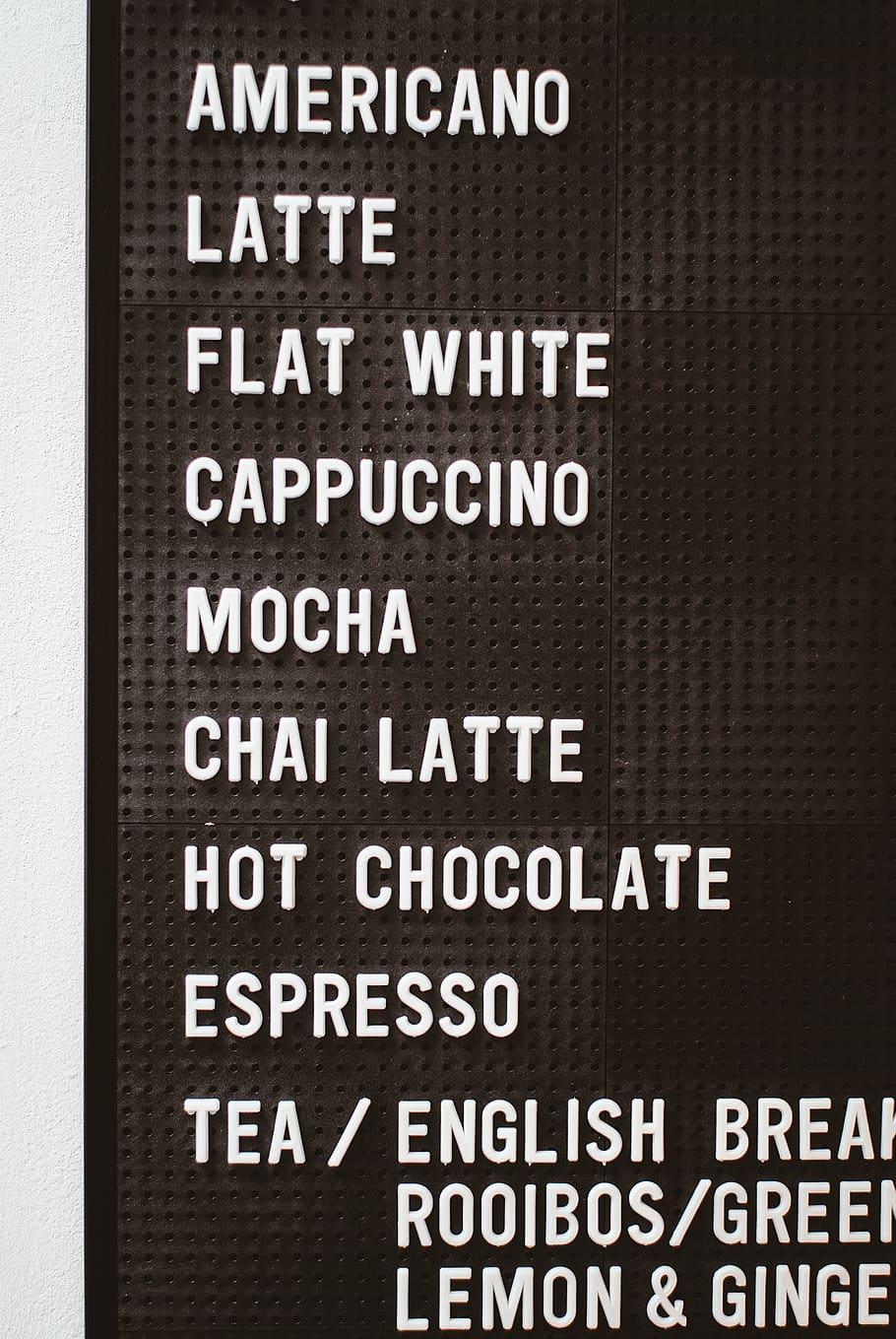 Chai latte Menu