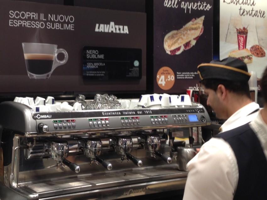 IL CAFFÈ SUBLIME DI LAVAZZA IN STAZIONE