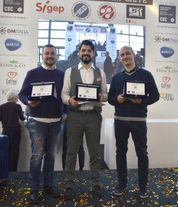 Il podio del Campionato italiano cup tasting