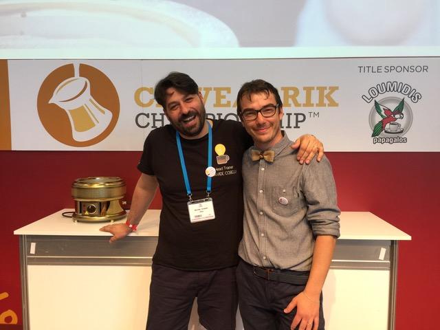 Simone con il suo coach Davide Cobelli