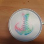 Il cappuccino arcobaleno...