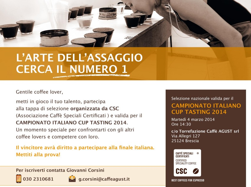UNA NUOVA DATA PER LE SELEZIONI DEL CAMPIONATO ITALIANO CUP TASTER 2014, A BRESCIA IL 4 MARZO
