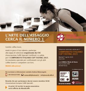 Invito Cup Tasting Elettronico Roma 2015
