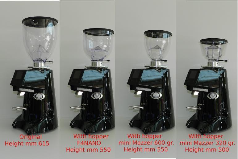 Macinacaffè con varie misure di tramoggia