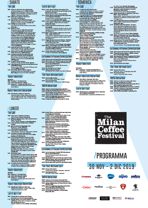 Milan coffee festival program
