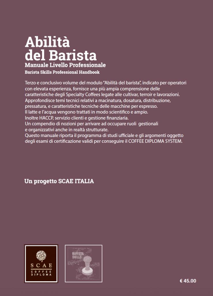 Manuale abilità del barista - livello professionaleManuale abilità del barista - livello professionale
