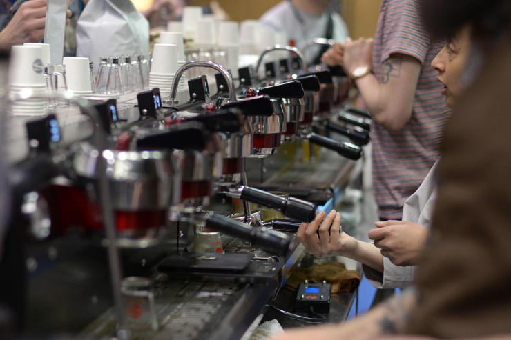 Sprudge_Joanna-Han_SBCC-2014_Synesso-9-Group-Espresso-Machine_041-740x493