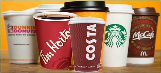 QUANTA CAFFEINA SI TROVA NEL CAFFE' DELLE 4 MAGGIORI CATENE DI CAFFETTERIA?