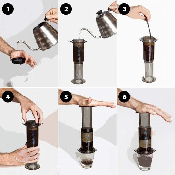 COME PREPARARE IL CAFFE' CON L'AEROPRESS, LE RICETTE DEGLI ESPERTI.