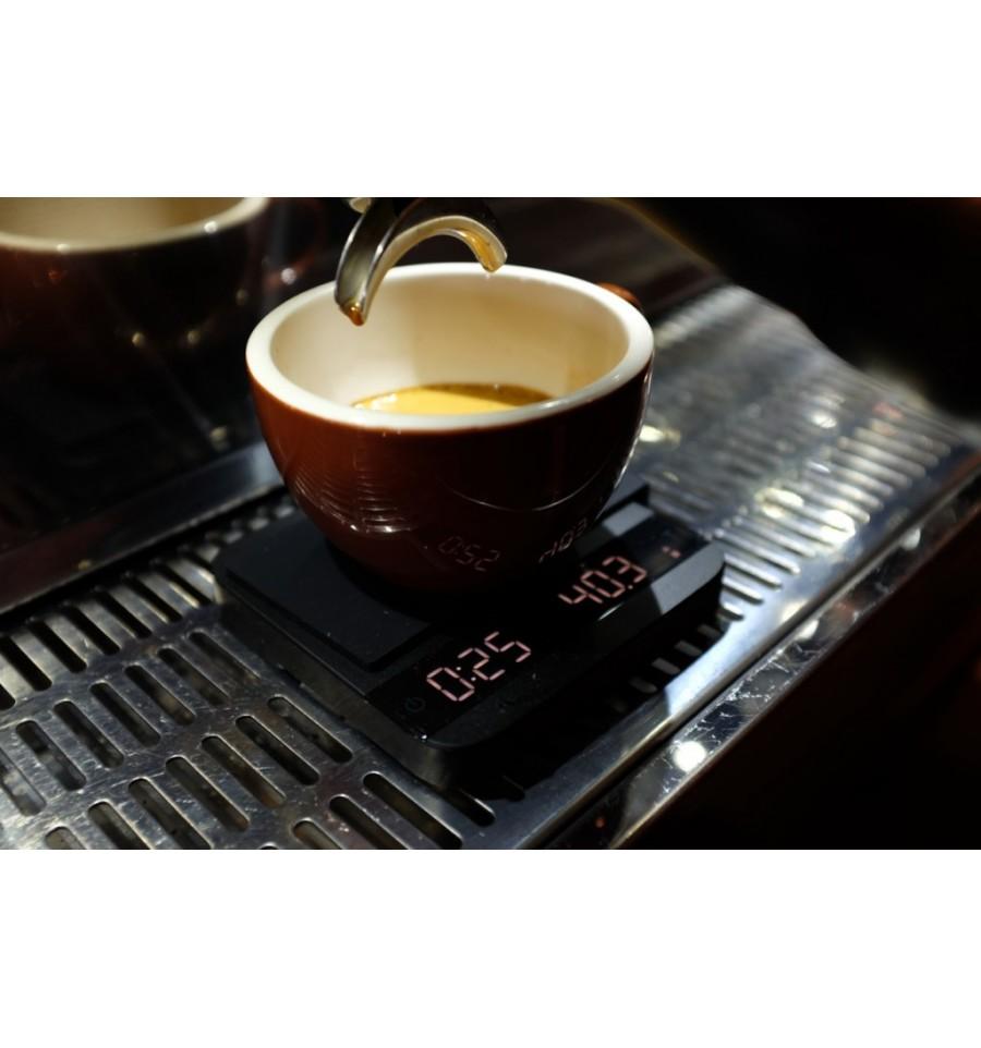 estrazione dell'espresso con una bilancia