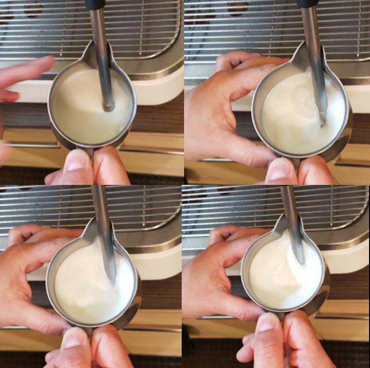Corretta montatura del latte