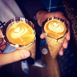 coffe in a cone