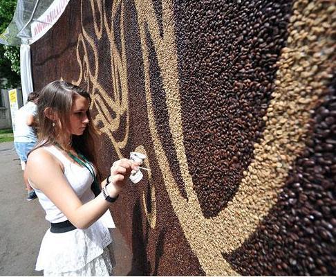 IL PIU' GRANDE MOSAICO AL MONDO, CON SOLO CHICCHI DI CAFFE'