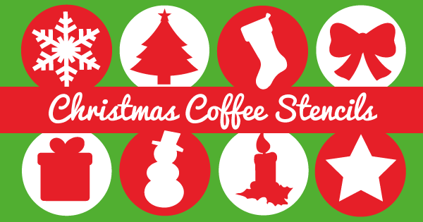 Christmas Coffee Stencil
