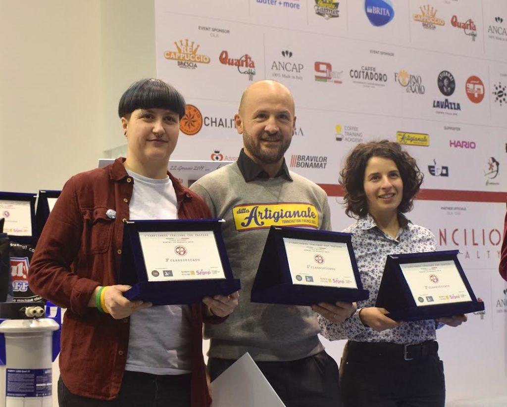 il podio del campionato italiano cup tasting 2019