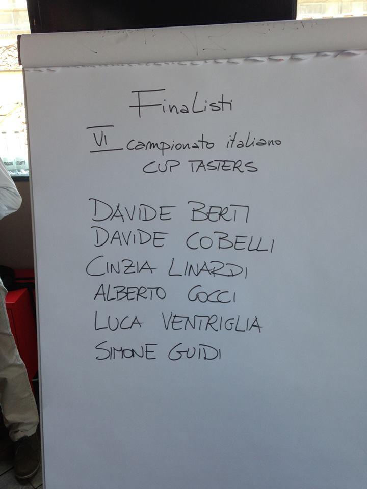 I FINALISTI DEL CAMPIONATO ITALIANO CUP TASTER