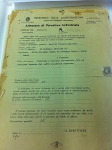 """Il brevetto """"La Marzocco"""" per la prima caldaia orizzontale"""