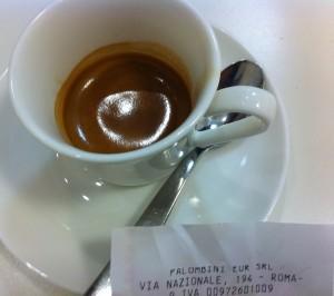 Il caffè Palombini assaggiato alla caffetteria del museo.