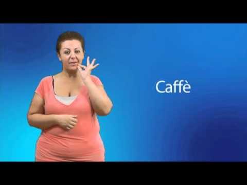 Caffè nella lingua dei segni