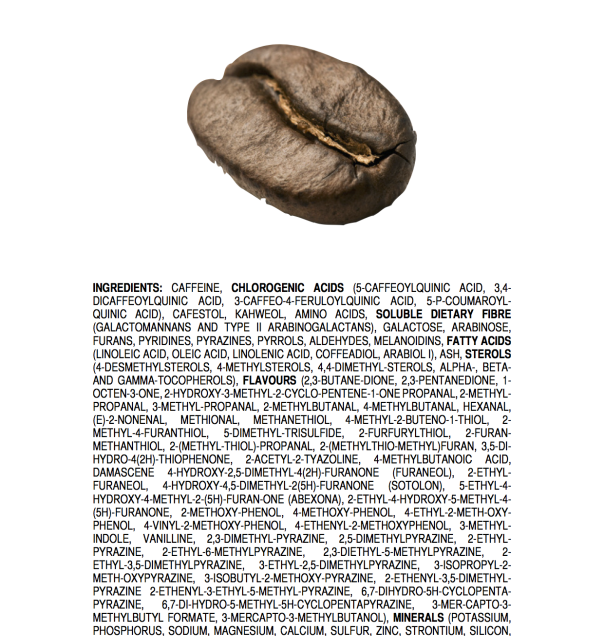 COSA C'E' ALL'INTERNO DI UN CHICCO DI CAFFE' TOSTATO?