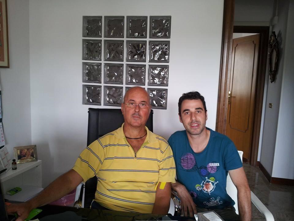 Stefano Panichi con il nostro Fabrizio Rinaldi.