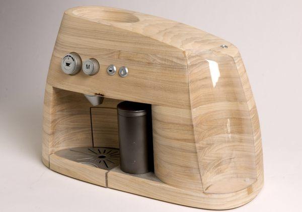 macchina da caffè espresso in legno.