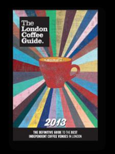 La copertina della London Coffee Guide 2013