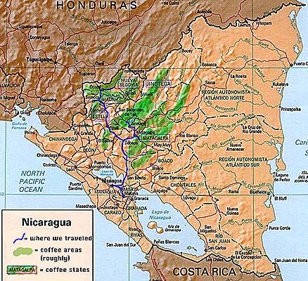 TUTTI I PAESI DEL CAFFE': IL NICARAGUA