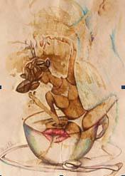 MICHELE PALANO, L'ARTISTA CHE GIOCA CON IL CAFFE'
