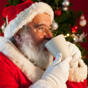 Babbo Natale con il caffè