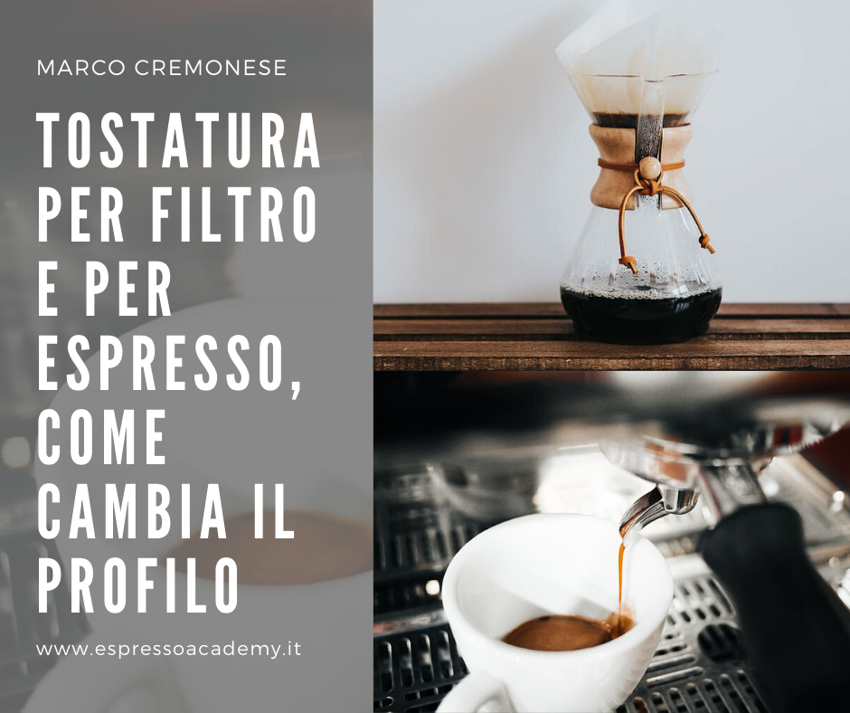 Tostatura del caffè per filtro e per espresso