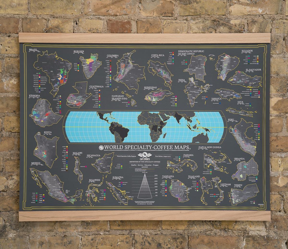 Vi Presentiamo La Mappa Mondiale Del Caffe Specialty